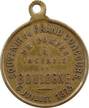 Boulogne, concours de pompes à incendie, 1873