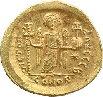 Justin Ier, solidus, Constantinople, 518-527