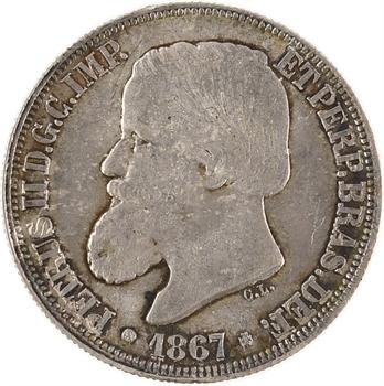 Brésil, Pierre II, 200 réis, 1867 Rio