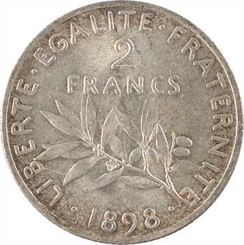 IIIe République, 2 francs Semeuse, 1898 Paris