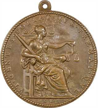Louis XIII, fonte d'époque signée Dupré, la Justice, 1623 Paris