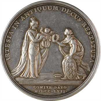 Louis XV, naissance du comte d'Artois, par Roëttiers, 1757 Paris