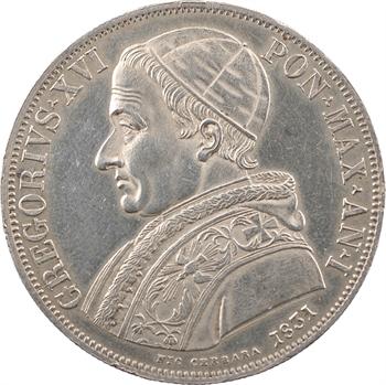 Vatican, Grégoire XVI, écu, 1831/I Rome