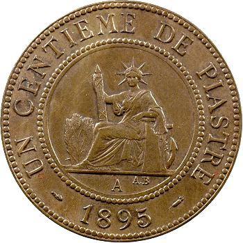 Indochine, un centième de piastre, 1895 Paris