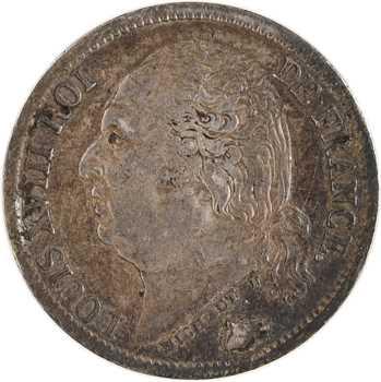 Louis XVIII, 1/2 franc, 1822 Paris