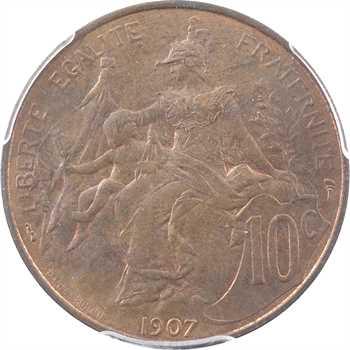 IIIe République, 10 centimes Daniel-Dupuis, 1907 Paris, MS64BN
