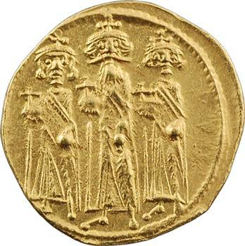 Héraclius, Héraclius Constantin et Héraclonas, solidus, Constantinople, 2e officine, 638-639