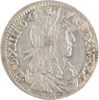 Louis XIV, douzième d'écu au buste juvénile, 1662 Limoges