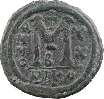 Justinien Ier, follis, Nicomédie, 2e officine, An XX = 546-547
