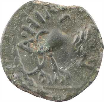 Rèmes ou Carnutes (incertaines ?), bronze ATHIIDIACI / A. HIR. IMP au lion, c.60-40 av. J.-C.