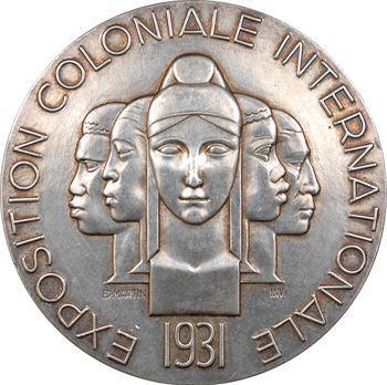 Exposition coloniale de Paris 1931, médaille par Raoul Bénard, à Pierre Mariotte, 1931 Paris