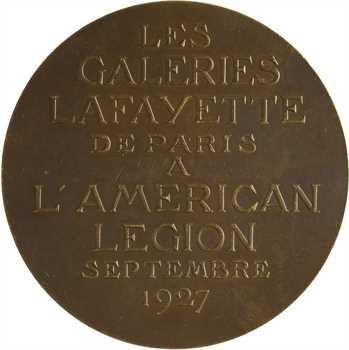 Lavrillier (G.) : les Galeries Lafayette à l'American Legion, Washington et Lafayette, 1927 Paris
