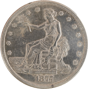 États-Unis, trade dollar, 1877 San Francisco
