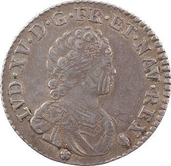 Louis XV, quart d'écu dit Vertugadin, 1716 Reims