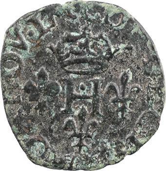 Italie, Desana (comté de), Dauphin Tizzone, liard, imitation d'Henri III, 158? Desana