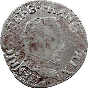 François II, demi-teston au nom d'Henri II, à la tête nue 5e type, 1560 Toulouse
