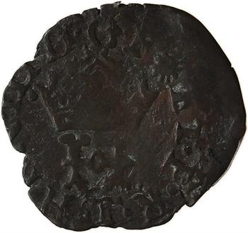 Henri III, liard à l'H couronnée, 1580 Nantes