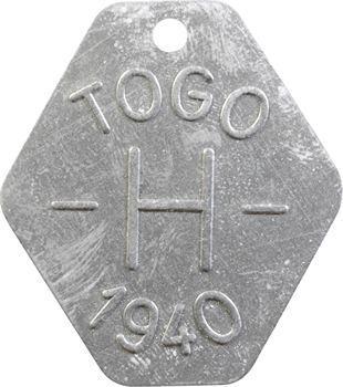 Togo, plaque de taxe, H, 1940