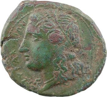 Sicile, Syracuse, Hiketas, hémilitron, c.288 av. J.-C