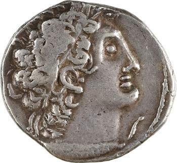 Égypte, Ptolémée X  Alexandre et Cléopâtre Bérénice, tétradrachme, Alexandrie, RY 21 = 94-93 av. J.-C