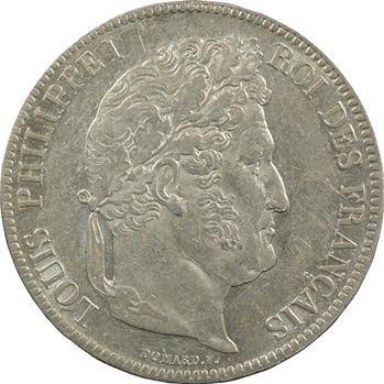 Louis-Philippe Ier, 5 francs IIe type Domard, 1837 Paris