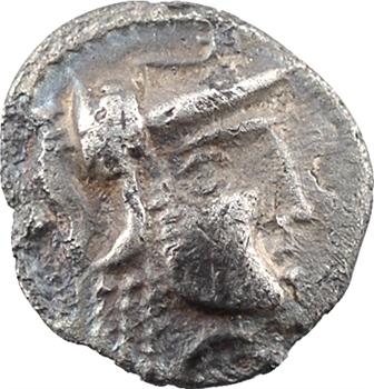 Carnutes (ou Cénomans), denier à la tête de Pallas à droite, c.80-50 av. J.-C