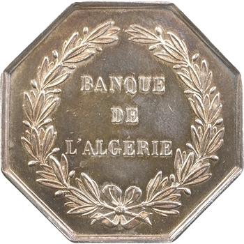 Algérie, Banque de l'Algérie, jeton, s.d. (1845-1860) Paris