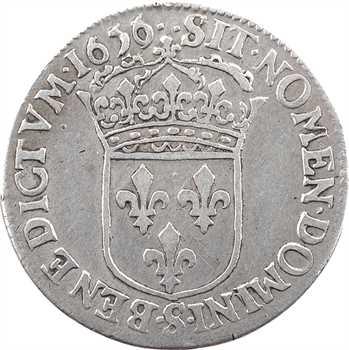 Louis XIV, quart d'écu à la mèche courte, 1656 Troyes