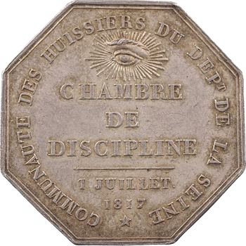 Louis XVIII, Chambre de discipline des huissiers de la Seine, 1817 Paris