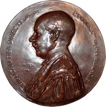 Peter (V.) : Henri Gautier (pharmacie), fonte uniface, 1912