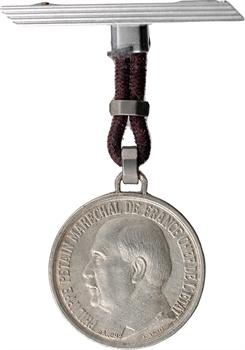 IIe Guerre Mondiale, broche, le Maréchal Pétain, par F. Angeli, s.d. Paris