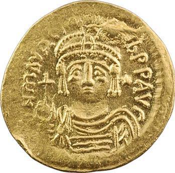 Maurice Tibère, solidus de poids léger, Constantinople, 7e officine, 582-602