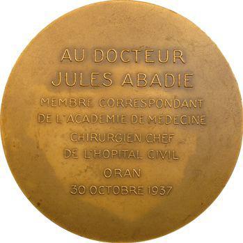 Algérie, Dr Jules Abadie, chirurgien chef de l'hôpital d'Oran, par de Hérain, 1937 Paris