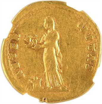 Vespasien, aureus, Rome, 75-79, NGC Fine 5/5 – 3/5
