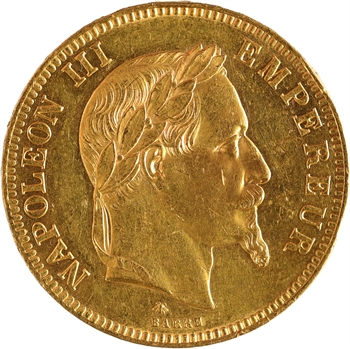 Second Empire, 100 francs tête laurée, 1869 Paris