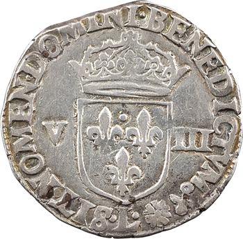 Henri IV, huitième d'écu, croix feuillue de face, 1597/6 Bayonne