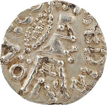 Neustrie, Moyenvic, trémissis du monétaire Seculfus, c.650-675