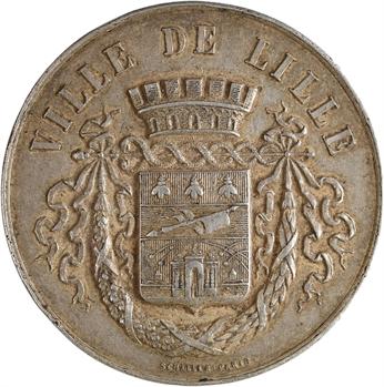 IIIe république, Lille (ville de), médaille de récompense vierge, s.d. Paris