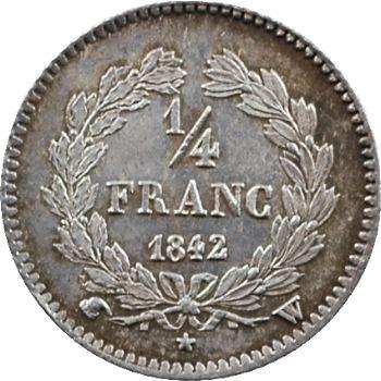 Louis-Philippe Ier, 1/4 franc, 1842 Lille