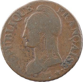 Le Directoire, cinq centimes Dupré, An 8 Lyon