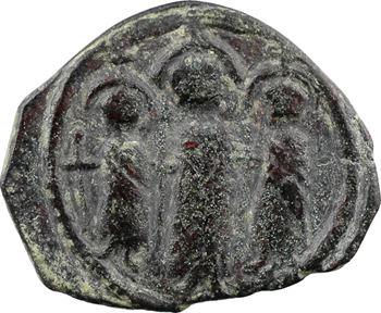 Héraclius, Martine et Héraclius Constantin, follis, An 18 (627-628), 3e officine, Chypre