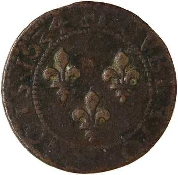 Louis XIII, double tournois, 1634 Tours