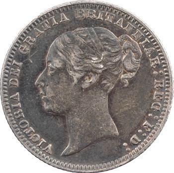 Royaume-Uni, Victoria, sixpence, 1875 Londres