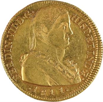 Chili, Ferdinand VII, 8 escudos, 1811 Santiago