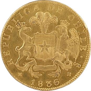 Chili (République du), 8 escudos, 1836 IJ, Santiago