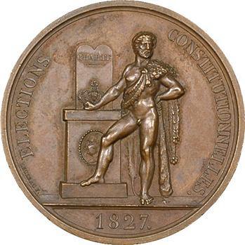 Charles X, élections constitutionnelles par Leclerc, 1827 Paris