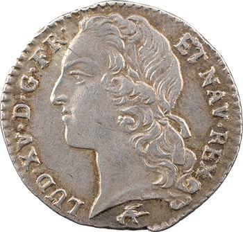 Louis XV, dixième d'écu au bandeau, 1765 Lyon