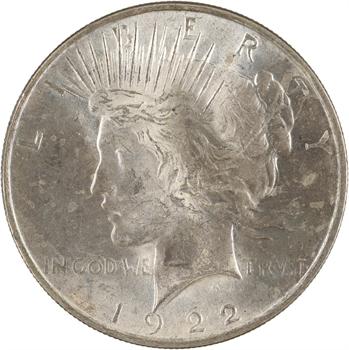 États-Unis, Peace dollar, 1922 Philadelphie