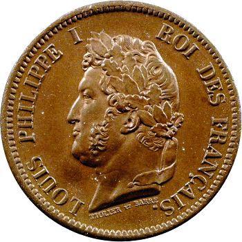 Louis-Philippe, 5 centimes des colonies françaises, 1841 Paris