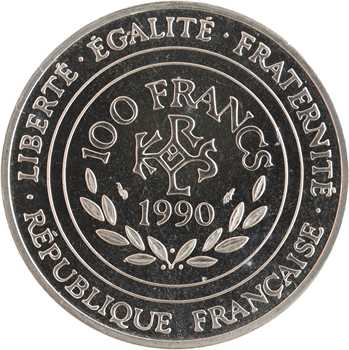 Ve République, essai de 100 francs Charlemagne, 1990 Pessac
